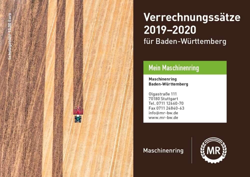 Verrechnungssätze 2019-2020 für Baden-Württemberg